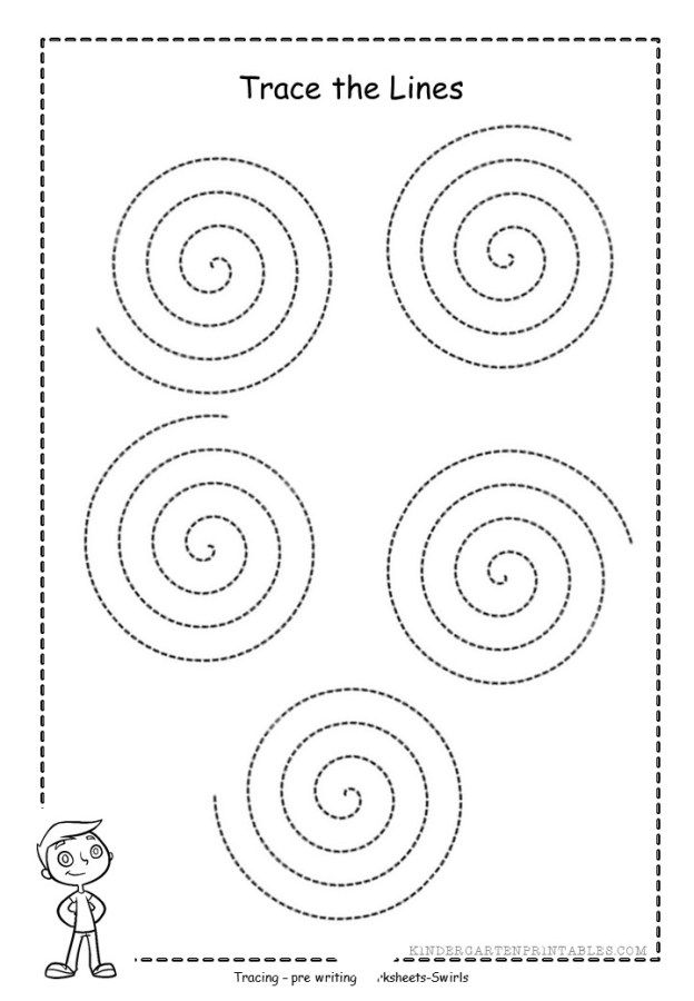 Free Swirl Tracing Sheet Activities For Kids Tracing