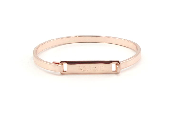 believe in me bangle: rose gold