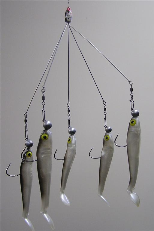 Alabama rig it reminds me of a mobile fishing lures for Alabama rig fishing