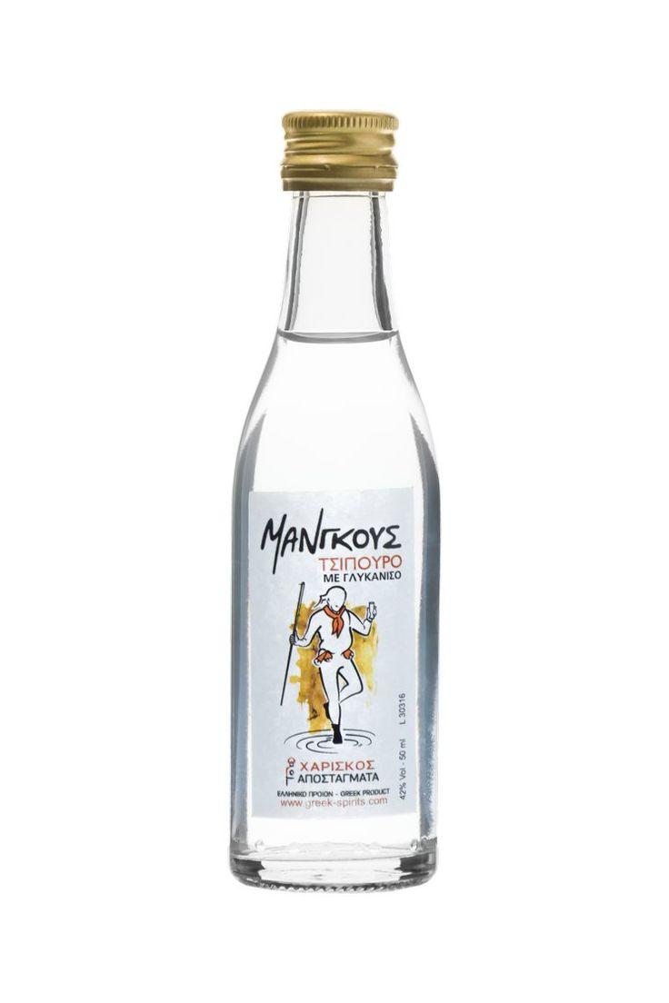 Τσίπουρο Μάνγκους με γλυκάνισο - 50 ml 42% vol. Tsipouro Mangoos with anise