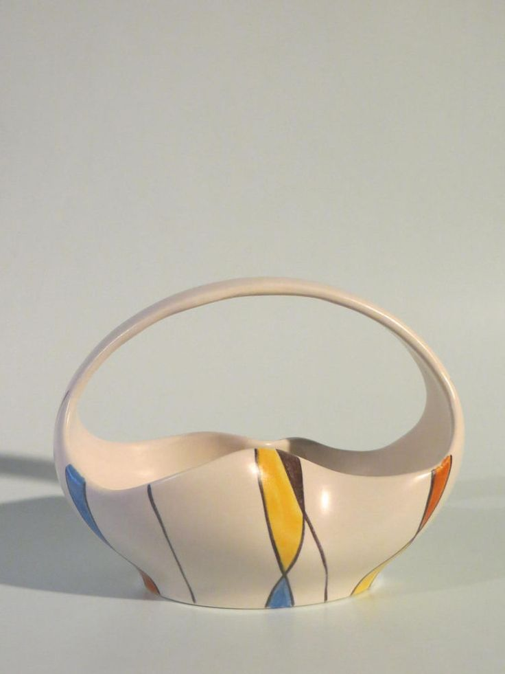 50er Jahre Keramik Schale Zeller Keramik / SCHMIDER - Form 4065 - Dekor 1818