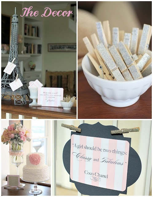 Lingerie shower - cute clothespins!