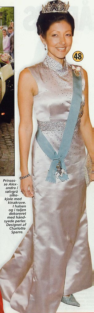 Princess Alexandra of denmark wearing Charlotte Sparre in 2004