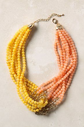 Anthropologie $38. Could make this for less but use real gemstones instead of glass.