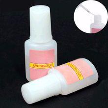 1 Pcs 10g BYB Falso Cola Nail Art Tips Glitter Acrílico decoração com Escova falso prego cola gel unhas falsas unha etiqueta alishoppbrasil