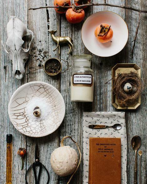 Photo styling - aged wood backdrop. Via EST Magazine, Issue #10.