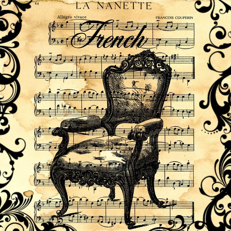 Stampin D'Amour: Free Digital Scrapbook Paper - French Chair Collage