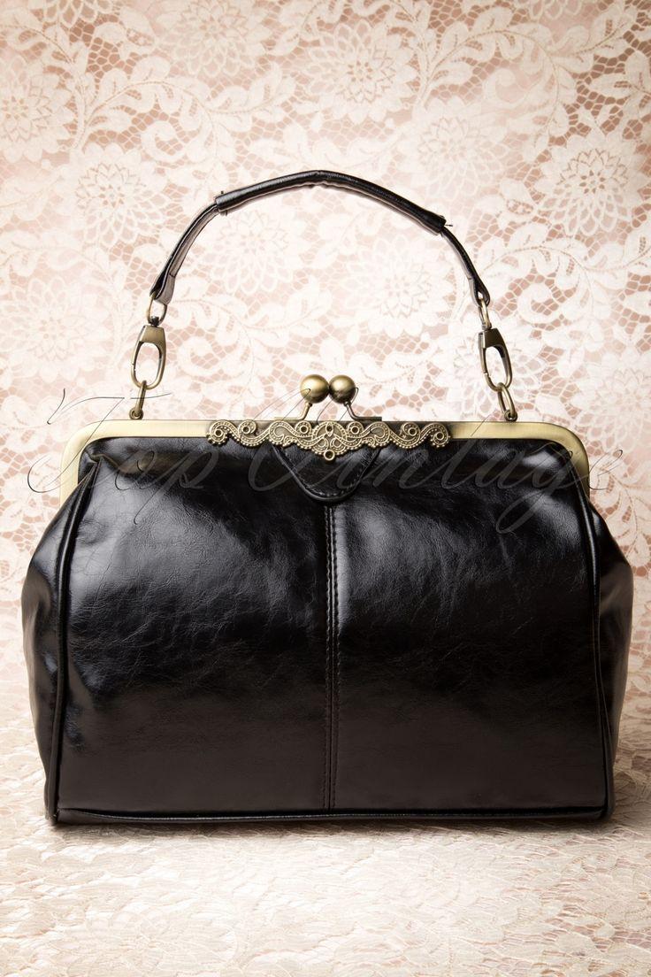 Kaytie - 20s Vintage Frame Kisslock Clasp Bag