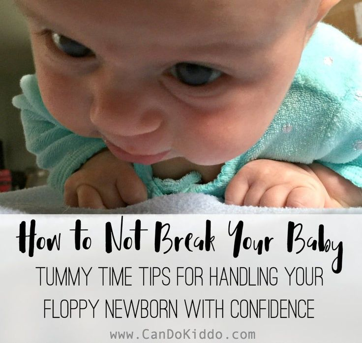 Tips for getting your newborn into and out of tummy time - from a pediatric Occupational Therapist and mommy. www.CanDoKiddo.com