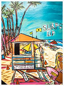 """SURF'S UP by Robin Hiers Acrylic ~ 36"""" x 24"""""""