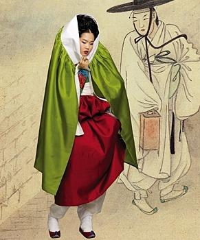 Hyewon Pungsokdo & Hanbok [PHOTOSHOPPED]