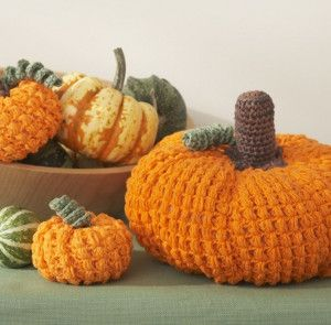 These Awesome DIY Crochet Pumpkins are so easy to make!   FaveCrafts.com