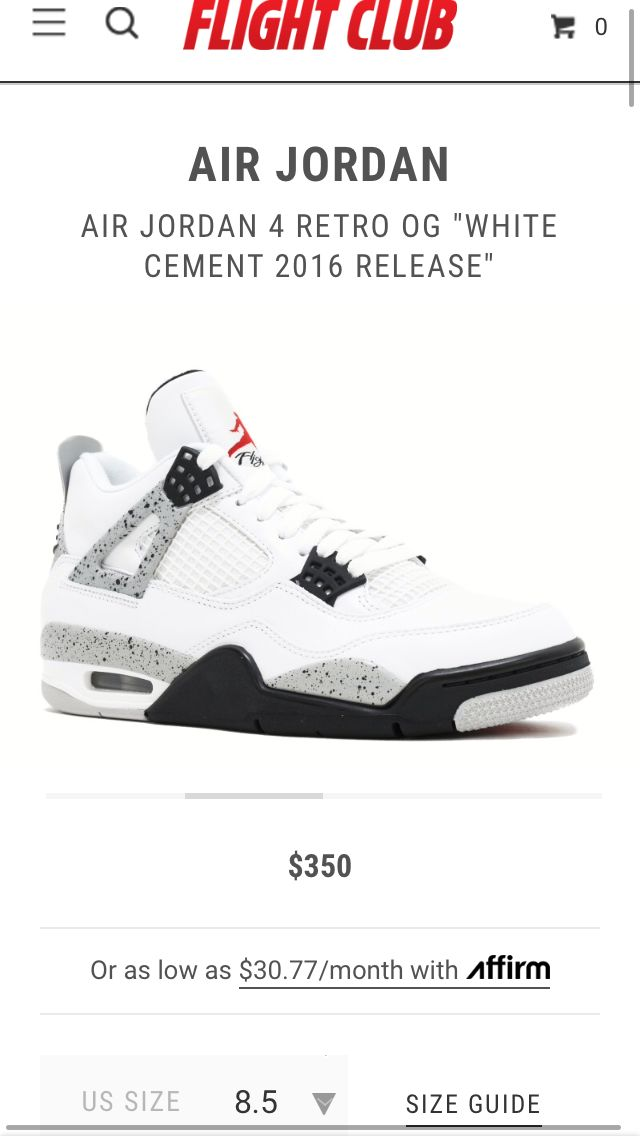 Omg the only place u can find these shoes is Flight Club their the PLUUUG PLUG PLUG 🔌hope I can get the Cement 4's some day! 🤞🖤