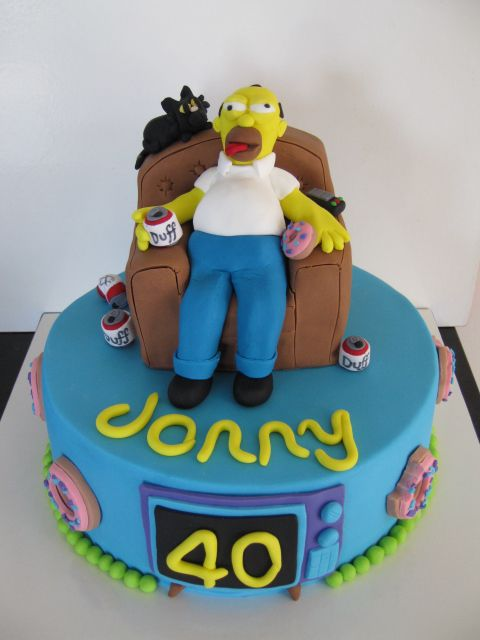 Homer Simpson Cake for a 40th Birthday. LOS SIMPSON ...