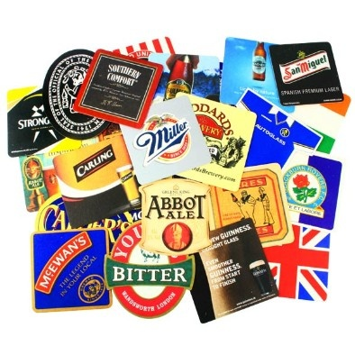Promote your business with personalised beer and drinks mats. Give out at local bars, coffee shops, cafes or as mailers to get your business noticed.  All our Beer Mats are 93mm x 93mm with rounded corners. They are made from a quality absorbant beer mat board, not cheap cardboard. They are printed in FULL COLOUR and can be single or double sided.