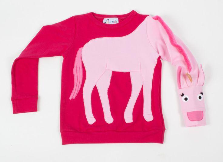 Pullover & Sweatshirts - Pullover Einhorn Luanimals pink rosa - ein Designerstück von Luanimals bei DaWanda