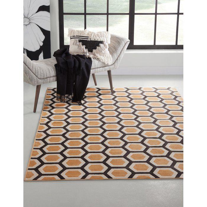 Becker Geometric Tangerine Area Rug Area Rugs Rugs Swedish Furniture