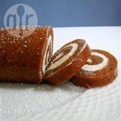 Pastel de calabaza enrollado @ allrecipes.com.mx