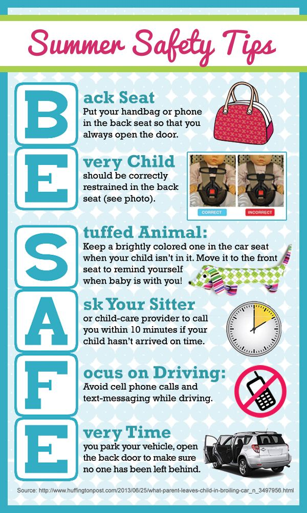 be safe and leave no child behind in the car safety tips