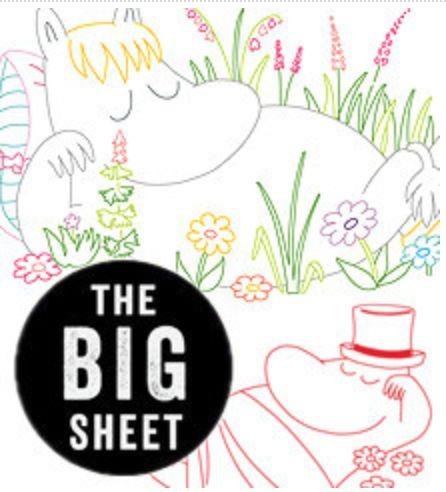 Embroidery Transfer - Moomin Sleepy Moomins - Big Sheet