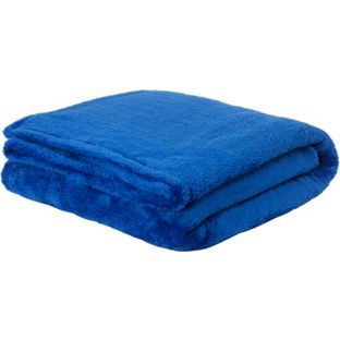 Buy ColourMatch Supersoft Throw - 170x130cm - Marina Blue at Argos.co.uk - Your Online Shop for Throws.