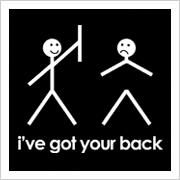 """Scrabble Jewelry - Funny """"I've Got Your Back"""" Stick Figure - Choose Pendant or…"""