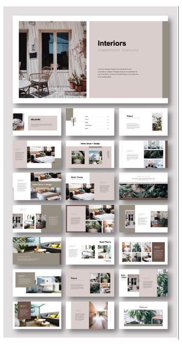 Creative Interiors Design Presentation Template Interior Presenta Architecture Portfolio Layout Interior Design Presentation Interior Design Portfolio Layout