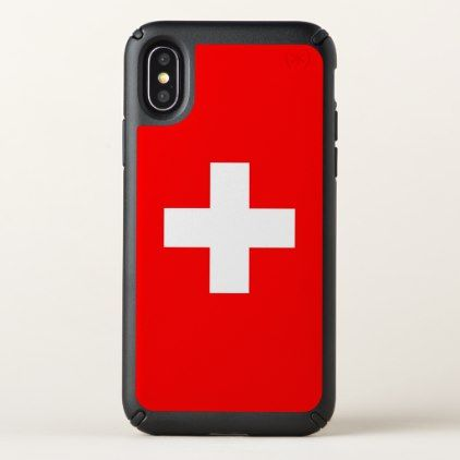 Speck Presidio iPhone X Case with Switzerland flag - trendy gifts cool gift ideas customize
