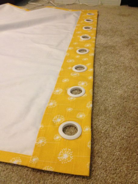 No Sew Grommet Curtain With Blackout Liner All Edges Are