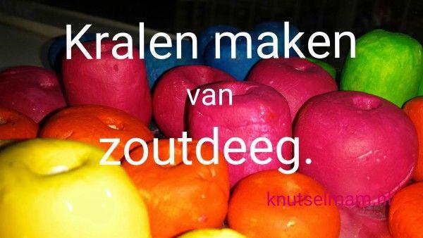 Kralen maken van zoutdeeg. Wat je allemaal al niet kan maken met een paar keuken spullen.http://knutselmam.nl/