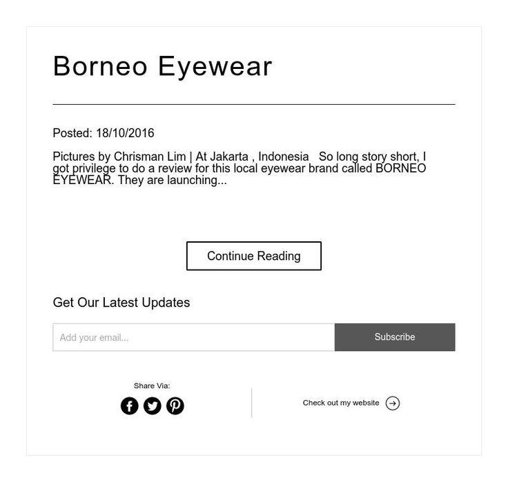 Borneo Eyewear