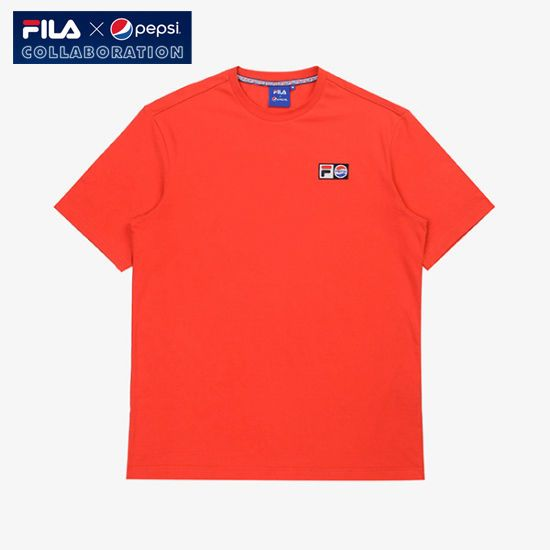 [Fila X Pepsi] Limited Collaboration Pepsi Logo T-shirt Unisex Adult Red #FILA #Tshirt