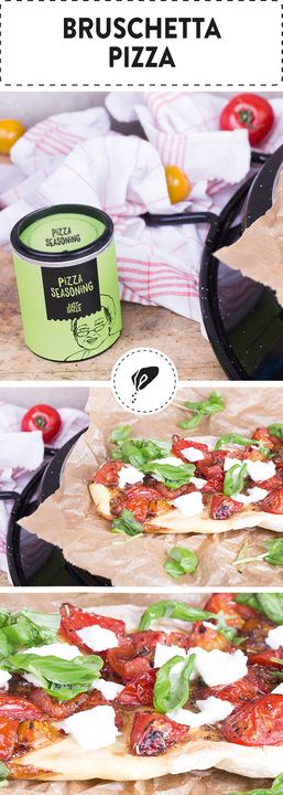 Homemade Bruschetta Pizza- A cozy evening calls for some pizza, don't you think? pizza, pizza dinner, pizza recipes, easy pizza, fast pizza, homemade pizza, spicy pizza, pizza party, fresh pizza, seasonal pizza, pizza dough, vegetarian pizza. https://justspices.com/