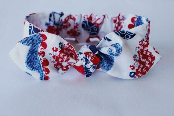 Baby bow headband sea creatures baby girl by ElleBelleBliss $12 AUD