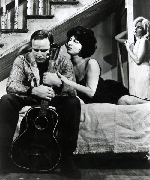 Marlon Brando, Anna Magnani and Joanne Woodward in The Fugitive Kind, 1959