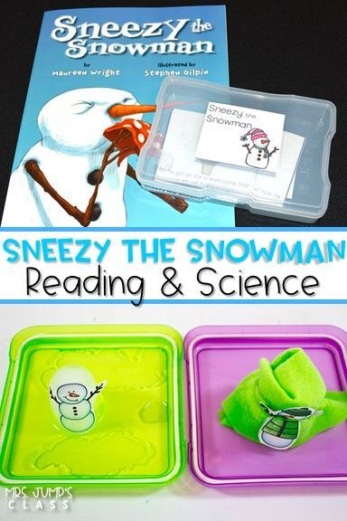 Sneezy the Snowman Reading Unit for Kindergarten and First Grade. Dive into reading comprehension with this fun unit. Students study the cause and effects of the Sneezy's actions. Crafts, math and literacy centers, worksheets, and science exploration is also included.