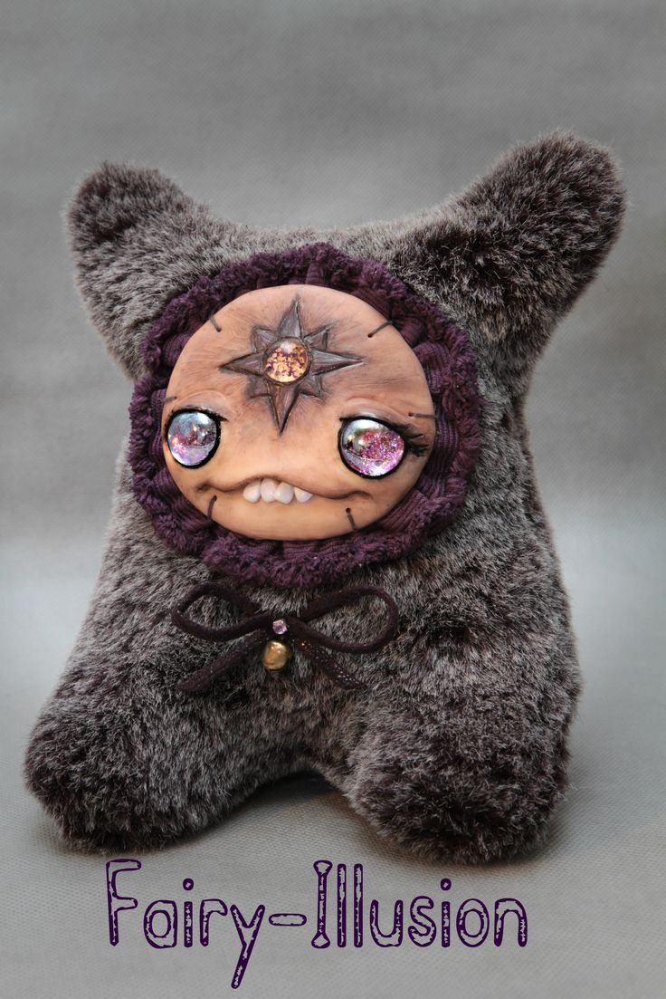 Belle Cute and crazy monster doll, a fairy creature from Fairy-Illusion. Handmade, author's doll.
