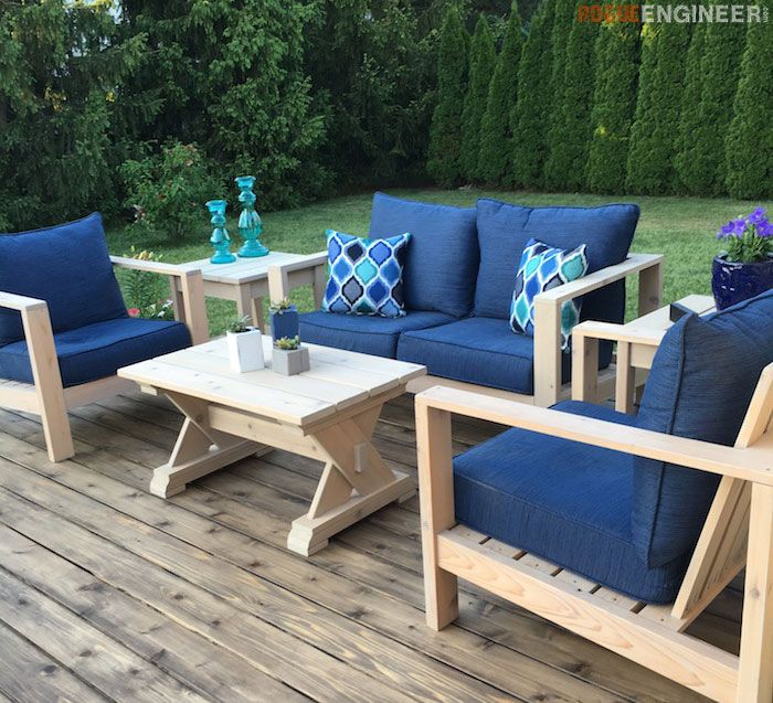 Small DIY Outdoor Coffee Table Plans   Free Plans | Rogueengineer.com  #OutdooroffeeTable # Part 15