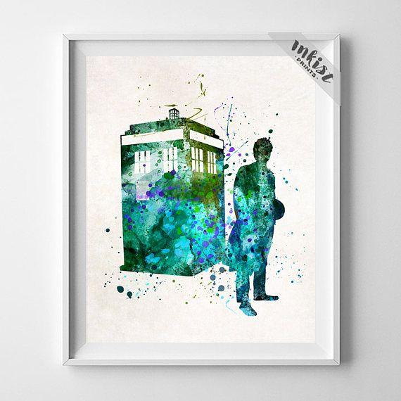 Tardis Print, Tardis Poster, Tardis Art, Dr Who Art, Doctor Who, Doctor Who Poster, Watercolor Art, Tardis Doctor Who, Christmas Gift, Wall Art. PRICES FROM $9.95. CLICK PHOTO FOR DETAILS.#inkistprints #watercolor #watercolour #giftforher #homedecor #wallart #walldecor #poster #print #christmas #christmasgift #weddinggift #nurserydecor #mothersdaygift #fathersdaygift #babygift #valentinesdaygift #painting #dorm #decor #livingroom #bedroom