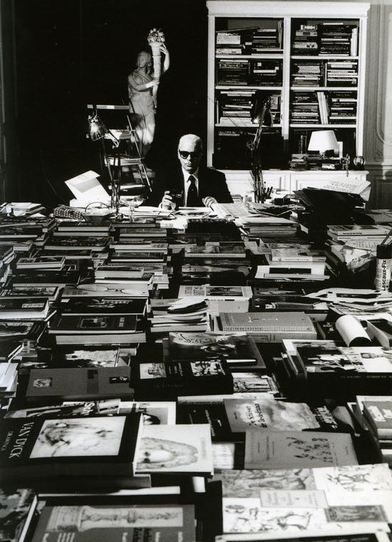 karl lagerfeld's home library...paris... I would love to swim around in that room!