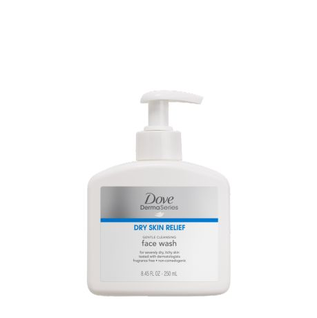 Dove DermaSeries gentle cleansing face wash: Gently cleanse and care for extremely dry skin with this new, creamy daily face wash that improves visual dryness.