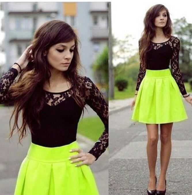 Neon skirt