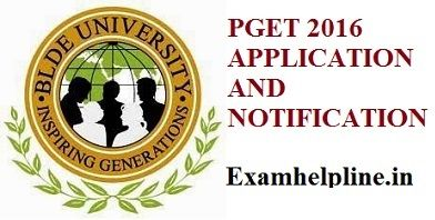 BLDEU PGET 2016 APPLICATION available on official website of bldeu.in now last date for download application is 15th des exam will conduct on 27 desember..