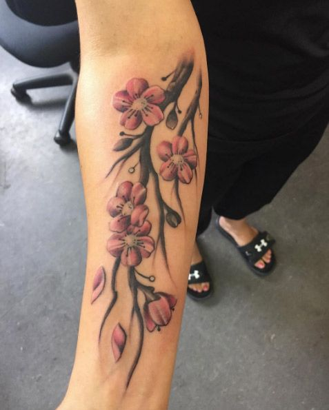 150+ Cherry Blossom Tattoo Designs And Meanings cool