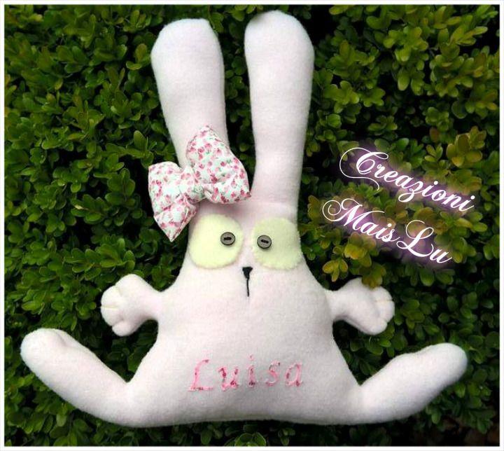 Coniglietto in morbido pile personalizzabile con nome
