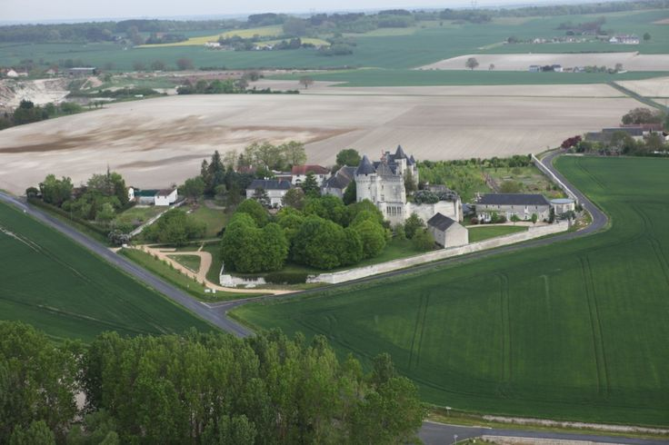 Flying over Chateau de la Motte