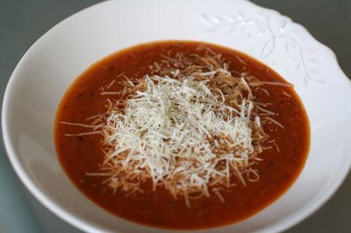 самый простой томатный суп