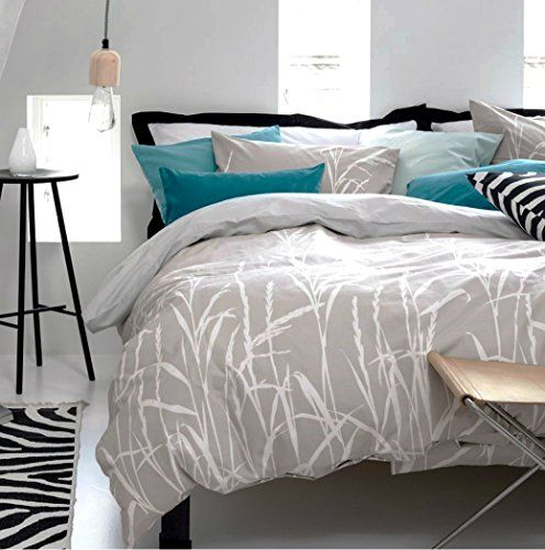 branches print duvet quilt cover 2pc set twin 100 cotton wheat spring branches gray