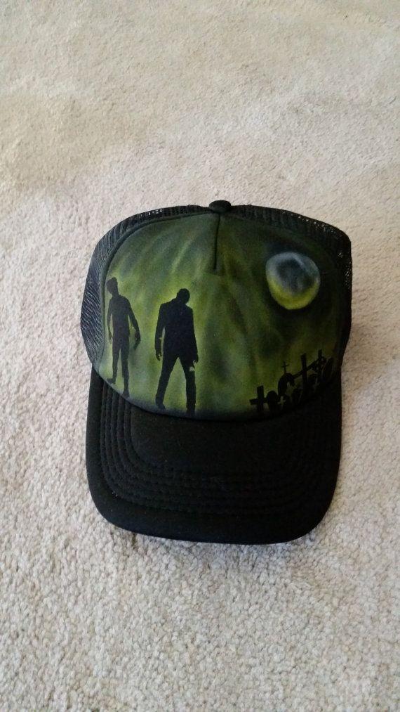 Zombie Trucker Hat 1 by StevenLaneDesign on Etsy