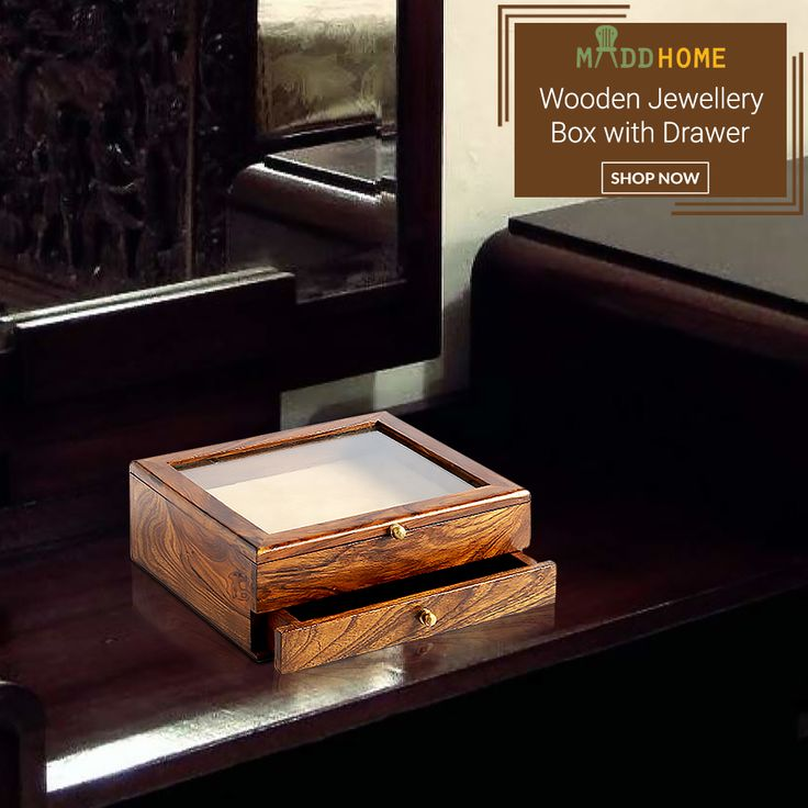 Designer Wooden jewellery Box  Now Available at Rs. 1,949/- Save upto 25% OFF!  Shop Here: https://goo.gl/TnIYyM